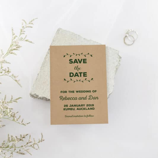 wedding cards on brown material