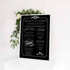 large poster in frame with flowers