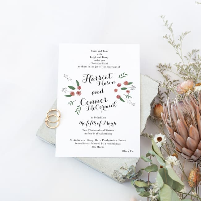 Mexican inspired wedding invitations