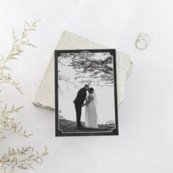 Chalkboard Border Wedding Thank you card