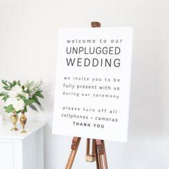 Unplugged Wedding Signage