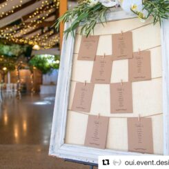 little leaves rustic wedding seating plan at Markovina Vineyard Estate