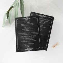 chalkboard order of service front and back