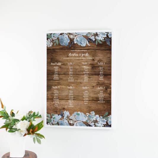 poster in white frame hanging on wall