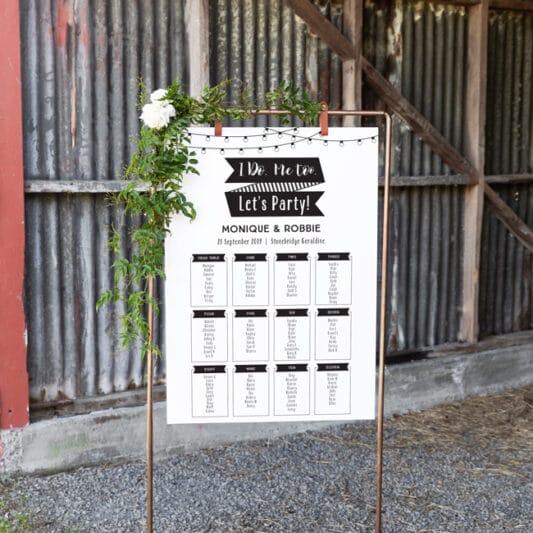 sign board hanging on copper frame