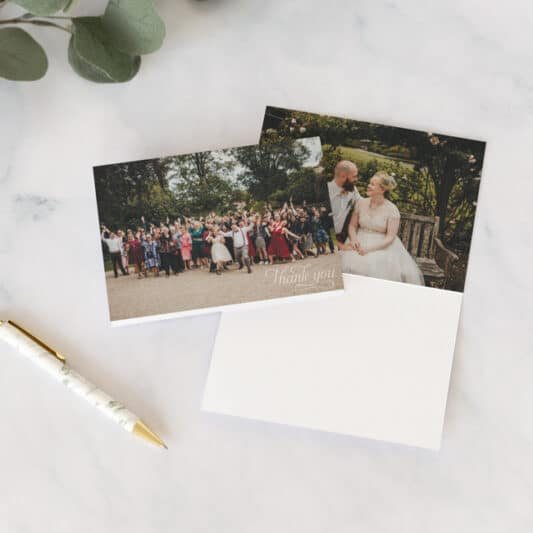 trifold card front and back open flat