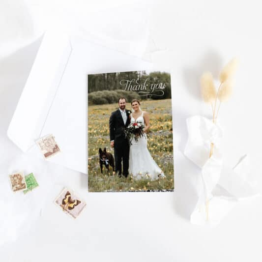 front of trifold card
