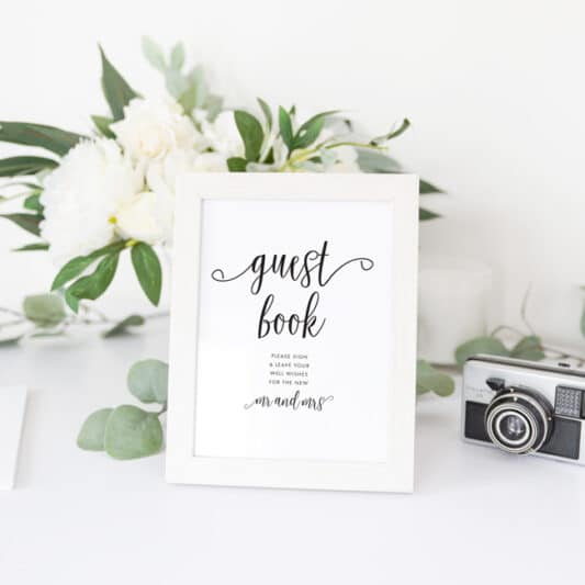 guestbook sign in photo frame