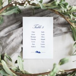 blue wedding seating plan