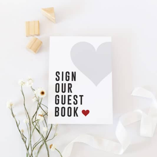 small guestbook sign