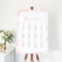 canvas sign on wooden easel