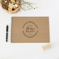 guestbook with black spine kraft cover
