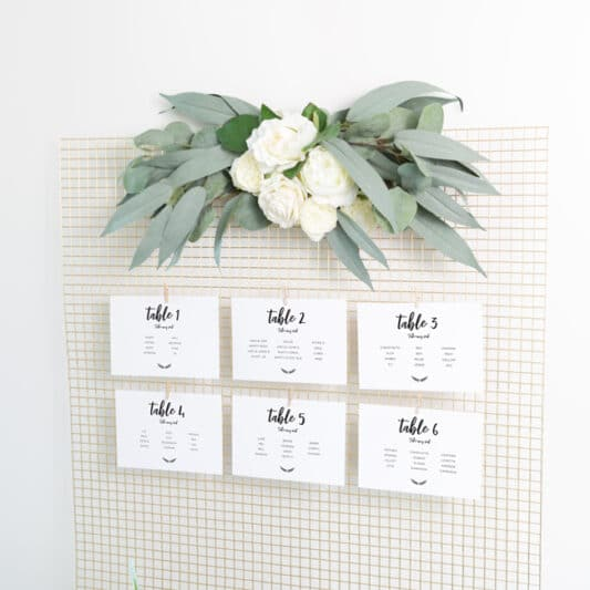 landscape cards on wire mesh