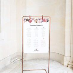 hanging sign board on copper frame