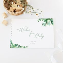 guestbook with white spine