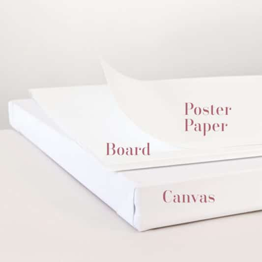 board, canvas and poster paper comparison