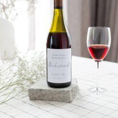 Boho Bridesmaid wine label