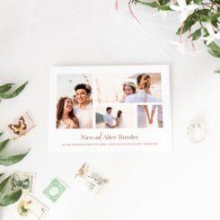 Copper Romance your wedding photos invites