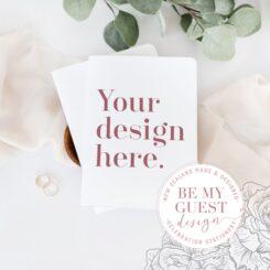 Custom vow book design